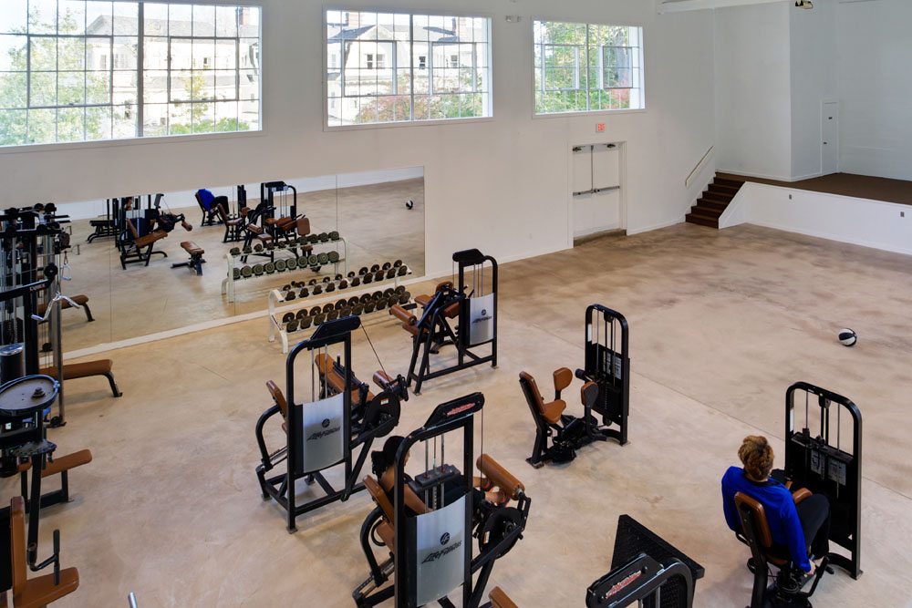 The Mansion at Noble Lane: The gym
